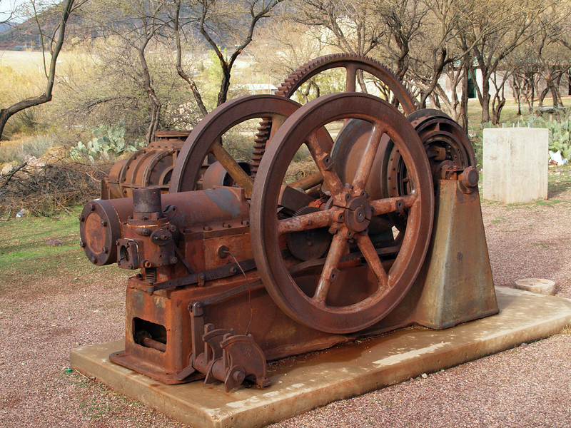I think this was an air compressor or some sort of pump used in the mines.