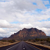 Hwy 60, ascending to Gonzales Pass, leaving Superior, AZ with Picketpost Mountain (4375ft) in the distance.