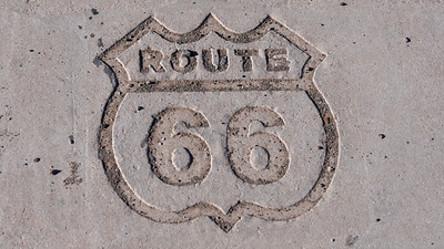 Marker for the Old Route 66