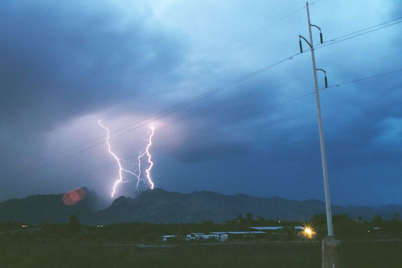 Night thunderstorm in Tucson, Az
