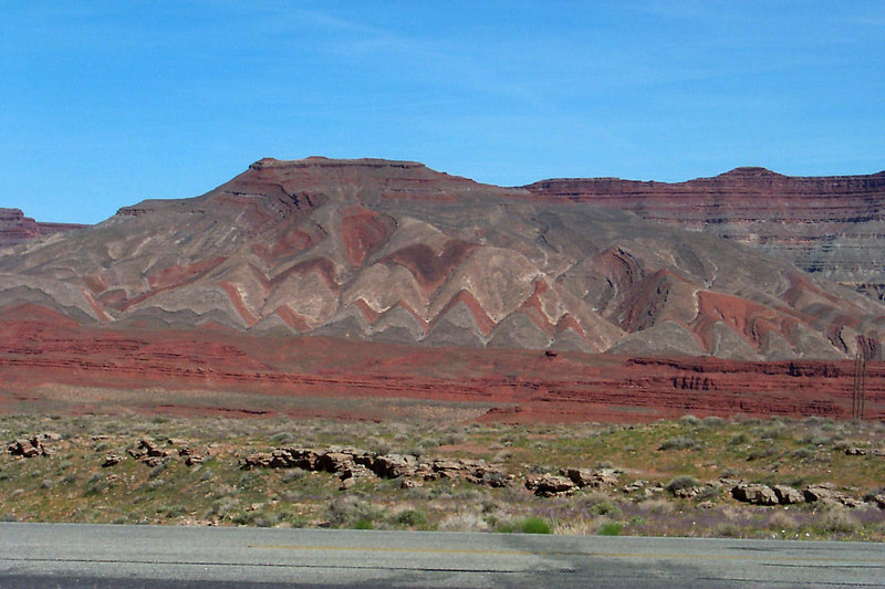 These hills were on the side of highway 163 on the way to Monument Valley.