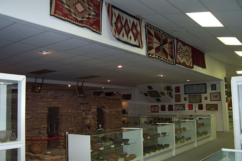 Part of the museum at the dinosaur park. It was mostly indian artifacts. (photo by Helen)