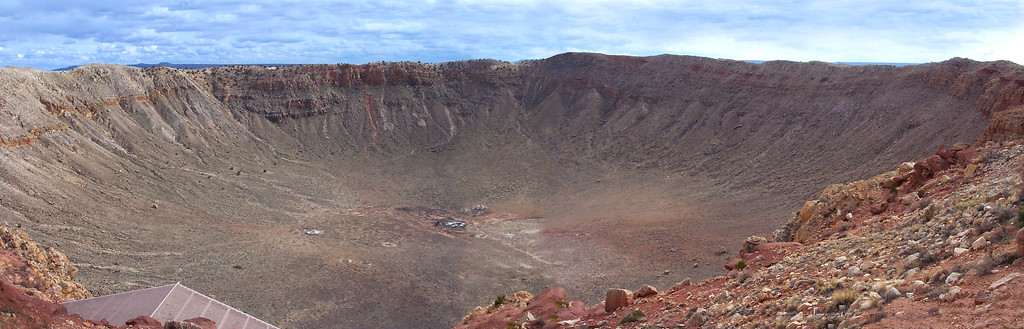 Meteor Crater is 700 feet deep and over 4,000 feet across. It was formed 50,000 years ago.