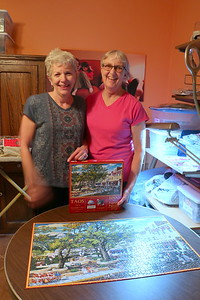 Taos puzzle completed - one of many assembled by the Haynes Sisters