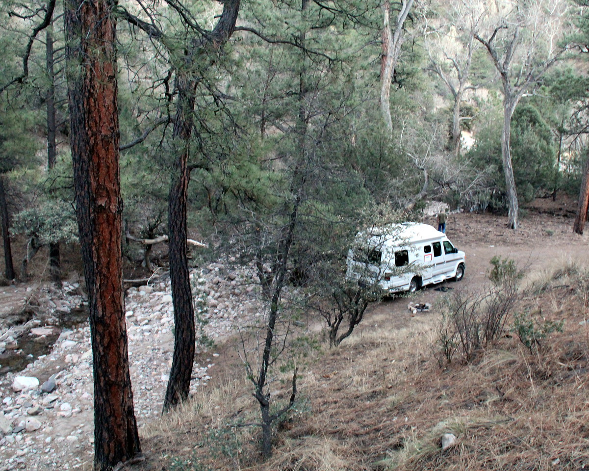 Campsite on Mimbres Mountains