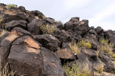 Natural  boulders trown out of volcano