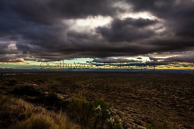 Clouds gather over the hills on the road to Prescott, Arizona. USA TRIP 2013