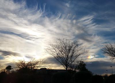 AZ sky & streaked sun 99th GalCel 70443