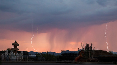 Lightning & clouds Cave Creek 4669