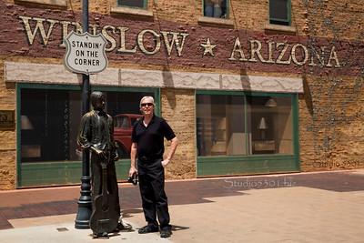 David standing on corner winslow AZ 3949Studio 5301