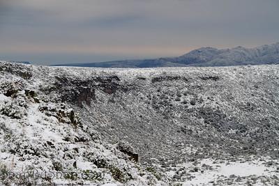 Snow Cover Desert Landscape