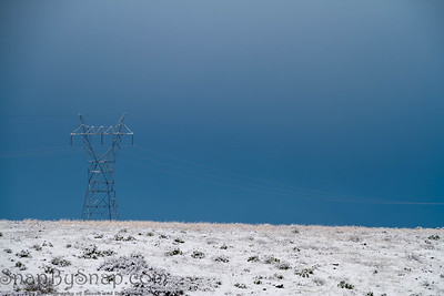 High Powered Lines and Snow