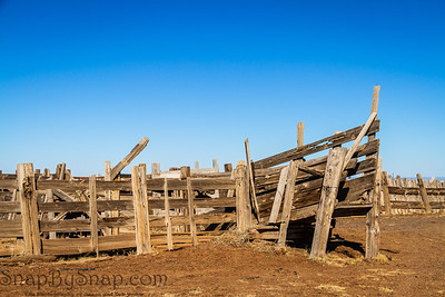 An old cattle corral