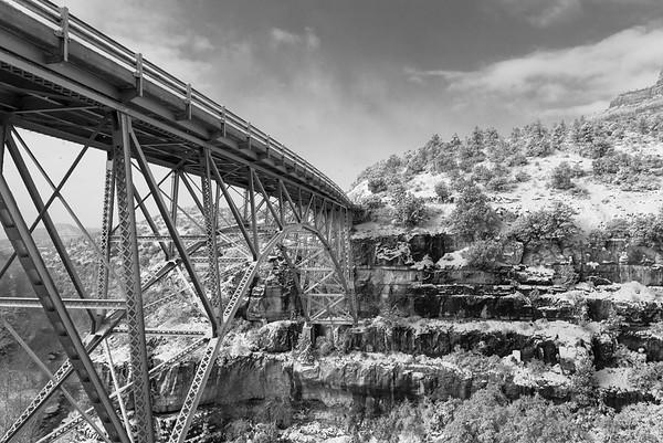 Bridge to Sedona in Snow, New Year's Day