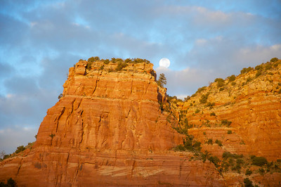 Moonset Sunrise  Sedona, AZ