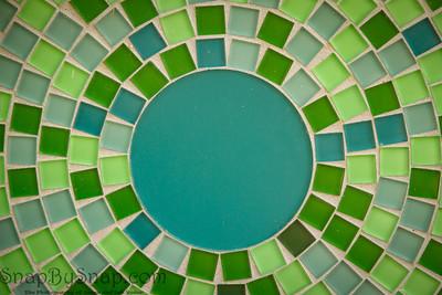 Blue Glass Circle
