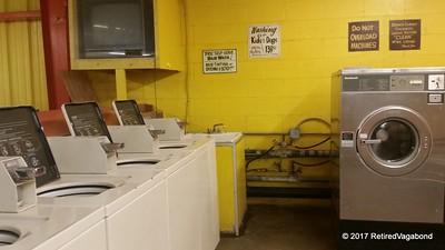 Not the fanciest laundromat - but functional