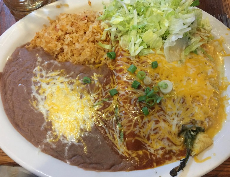 The #2 combo: Chile Relleno & (Cheese) Enchilada