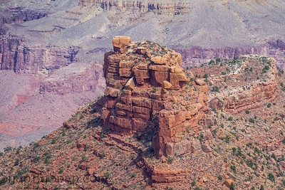 A rock formation in the Grand Canyon