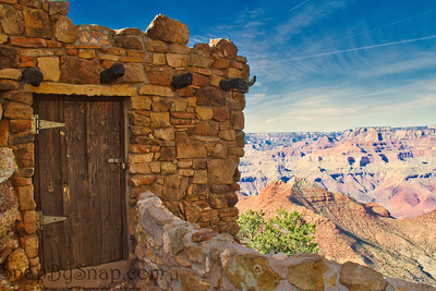 Historic building overlooking the Grand Canyon