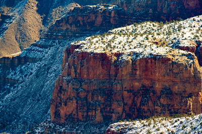 Details of the Grand Canyon in Winter