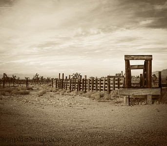 Old western corral in the desert of Arizona