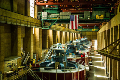 The electric generators on the Hoover Dam