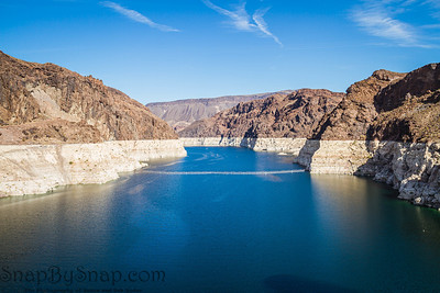Looking into Lake Meade from the Hoover dam