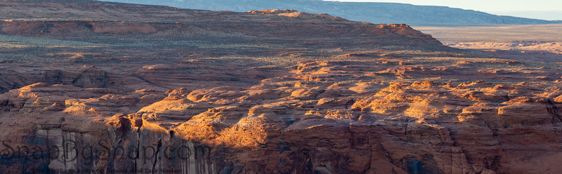 Panorama image of the rocky desert of northern Arizona