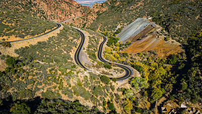 A Curvy mountain road in Arizona