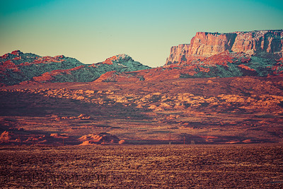 The morning light striking the cliffs of Vermilion Cliffs National Monument
