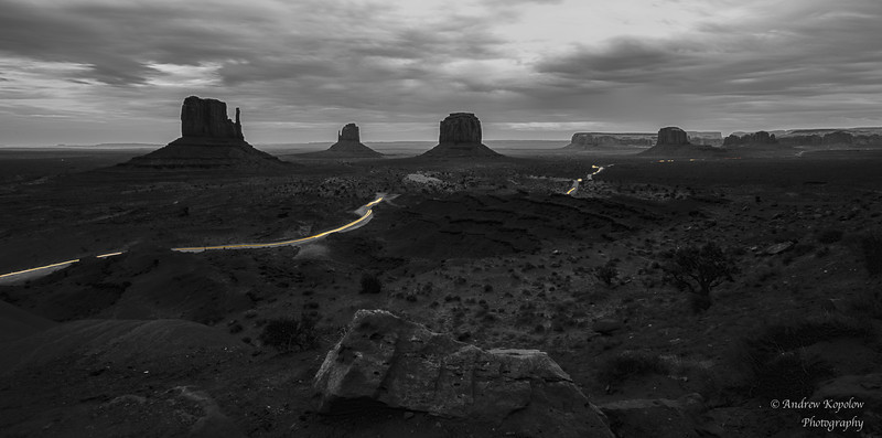 A Little Light Play in Monument Valley