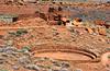 Wupatki Pueblo ruins in the Wupatiki National Monument area near Flagstaff, Arizona.