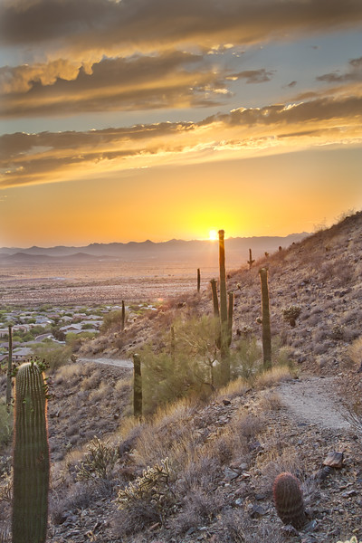 Arizona Sunset and Hiking Trail