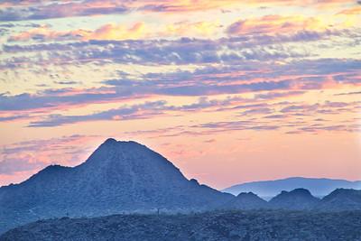 Arizona Sunset with Clouds