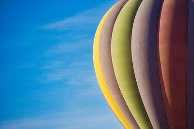 Hot Air Balloon with Copy Space