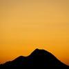 Desert Mountain Silhouette
