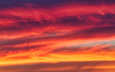 Fiery Clouds at Sunset