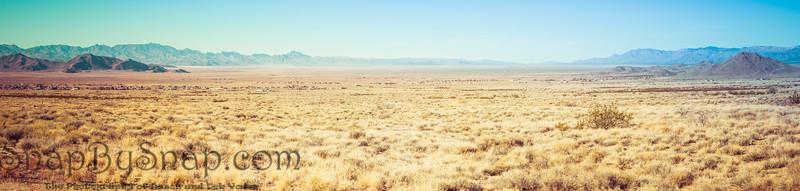 Panorama of the Open Desert