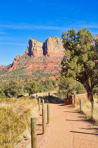 A Trail in the Red Rocks of Sedona