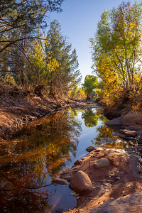 Sedona Creek with Fall Colors.