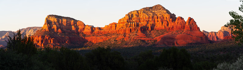 Sedona Red Rock Panorama at Sunset