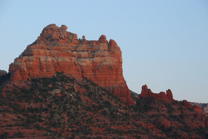 Sedona red rocks at dusk