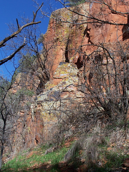 Petroglyphs adorn the walls at V-Bar-V Ranch, just a few miles north on I-17 from Montezumah's Well.