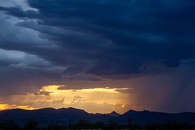 A sunset image of a monsoon