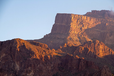 The cliffs of the Superstition Mountains