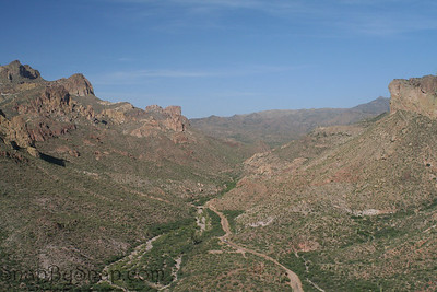Desert view in Tonto National Forest in Arizona.