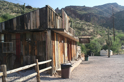 Old building at Tortilla Flats in Tonto National Forest in Arizona.