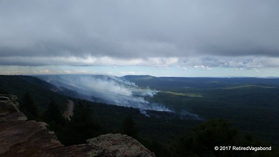 Forest Fire Below the Mogollon Rim
