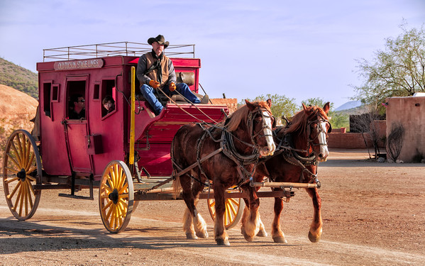 Stagecoach at Tucson Studios.